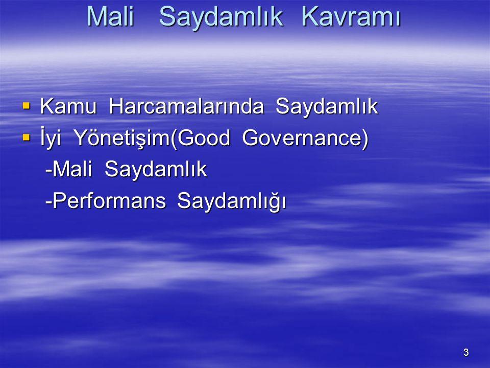 3 Mali Saydamlık Kavramı  Kamu Harcamalarında Saydamlık  İyi Yönetişim(Good Governance) -Mali Saydamlık -Mali Saydamlık -Performans Saydamlığı -Perf