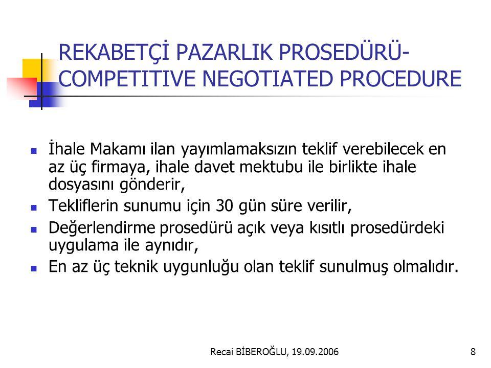 Recai BİBEROĞLU, 19.09.200619 ÖZEL ŞARTLAR Sözleşme taraflarının tabi olduğu hukuk, iletişim bilgileri, teslim edilecek dokümanlar, yerel düzenlemelerden yararlanma, yüklenici sorumluluğu, orijin, kesin teminat, mallara ilişkin sigorta, ilgili çizimler sözleşmenin uygulama programı, sözleşme fiyatlandırma metodu, vergi ve gümrük düzenlemeleri(muafiyetleri), patent ve lisanslar, sözleşmenin uygulamasının başlaması, uygulama süreci, alternatif çözüm önerileri ve miktar farklılaştırma, muayene ve test, Ödeme metodu Teslimat, geçici kabul, Garanti şartları ve satış sonrası hizmetler, Anlaşmazlıkların giderilmesi, konularına ilişkin kurallar genel şartlara atıfta bulunularak veya genel şartlara ilave olarak belirtilir.