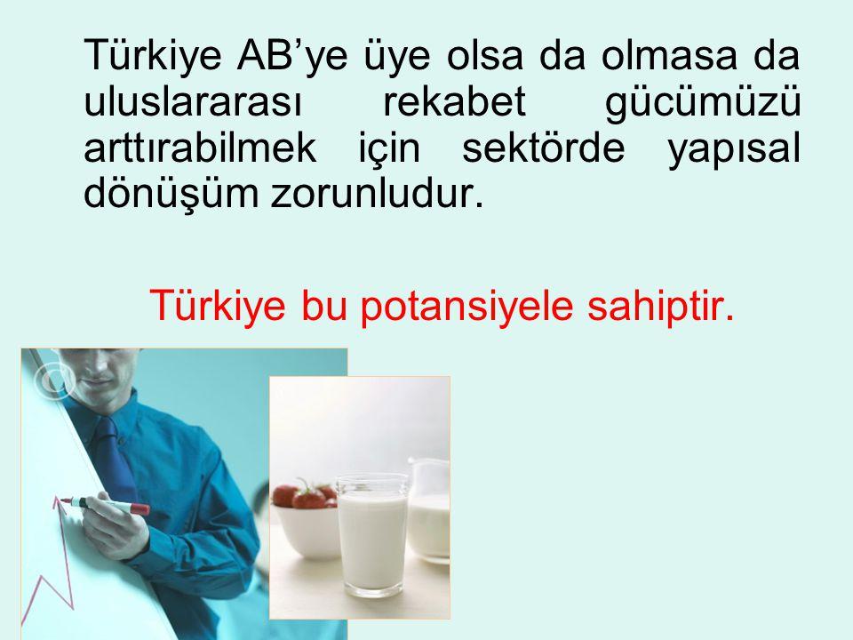 Türkiye AB'ye üye olsa da olmasa da uluslararası rekabet gücümüzü arttırabilmek için sektörde yapısal dönüşüm zorunludur.