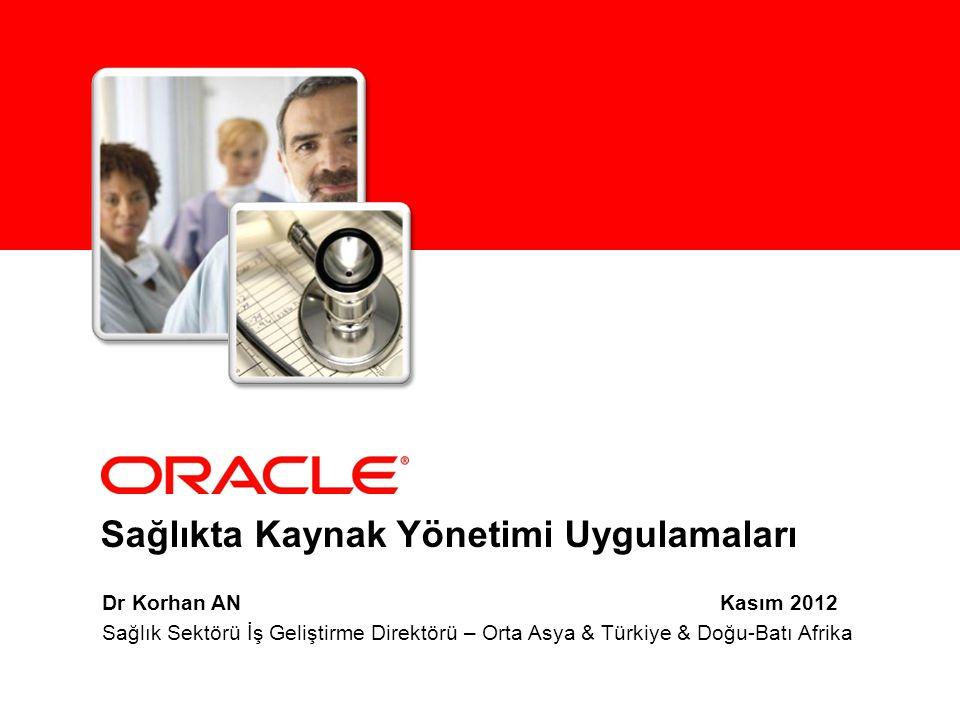 Sağlıkta Kaynak Yönetimi Uygulamaları Dr Korhan AN Kasım 2012 Sağlık Sektörü İş Geliştirme Direktörü – Orta Asya & Türkiye & Doğu-Batı Afrika