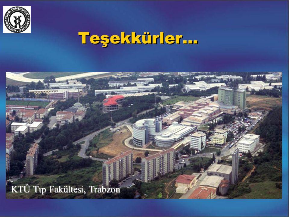Teşekkürler… KTÜ Tıp Fakültesi, Trabzon