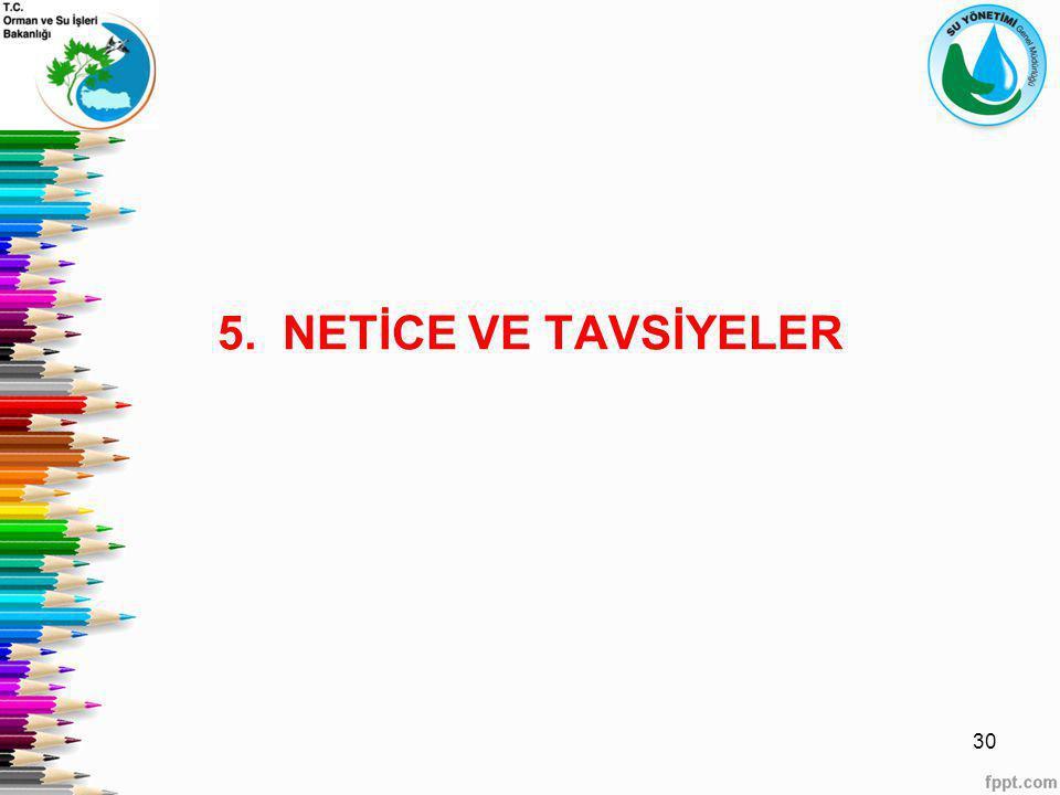 5. NETİCE VE TAVSİYELER 30