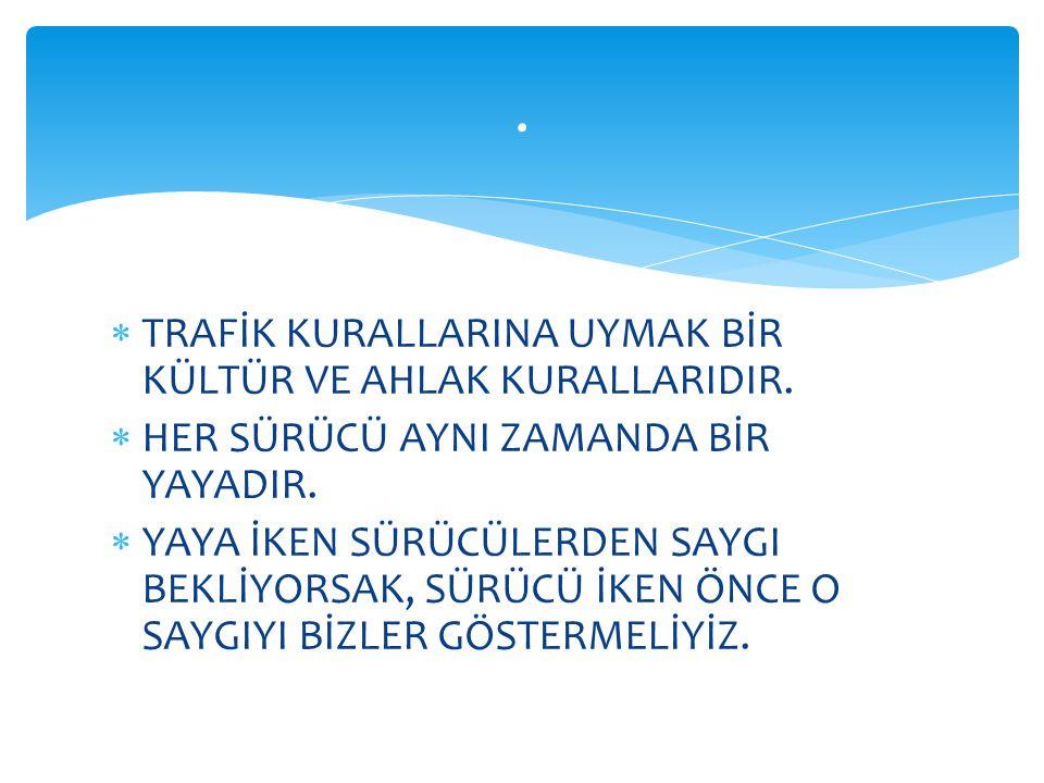  ANTALYA İLİMİZDE ÖNCE YAYA PROJESİ UYGULANMAKTADIR..