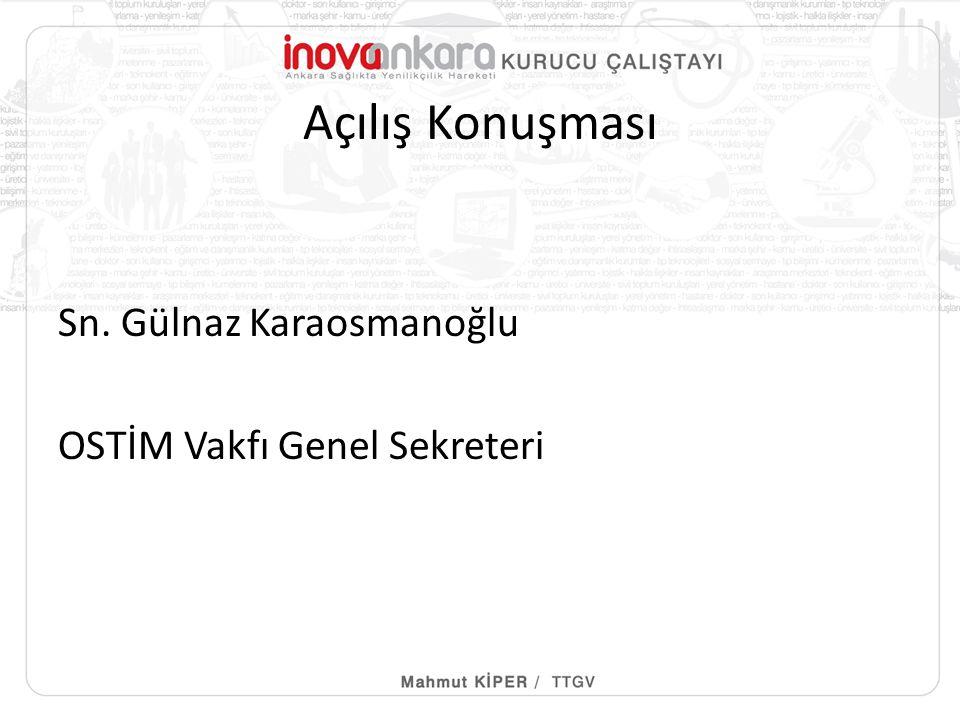 Açılış Konuşması Sn. Gülnaz Karaosmanoğlu OSTİM Vakfı Genel Sekreteri