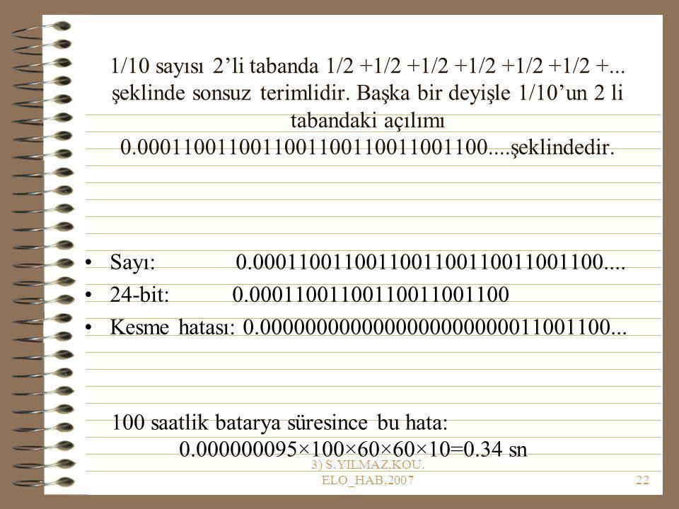3) S.YILMAZ,KOU.ELO_HAB,200722 1/10 sayısı 2'li tabanda 1/2 +1/2 +1/2 +1/2 +1/2 +1/2 +...