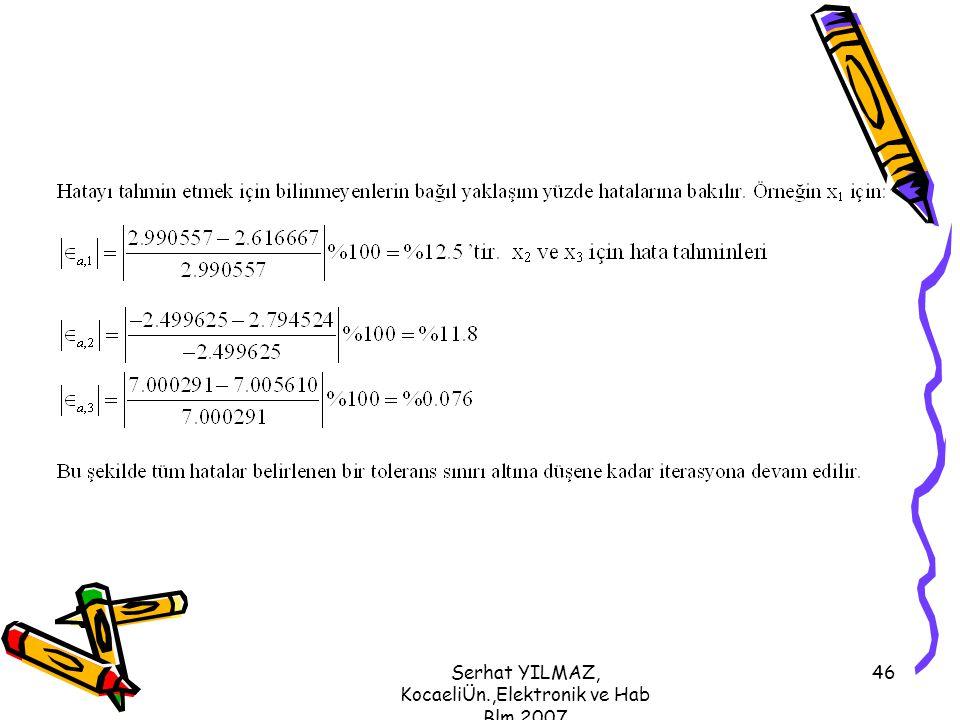 Serhat YILMAZ, KocaeliÜn.,Elektronik ve Hab Blm,2007 46