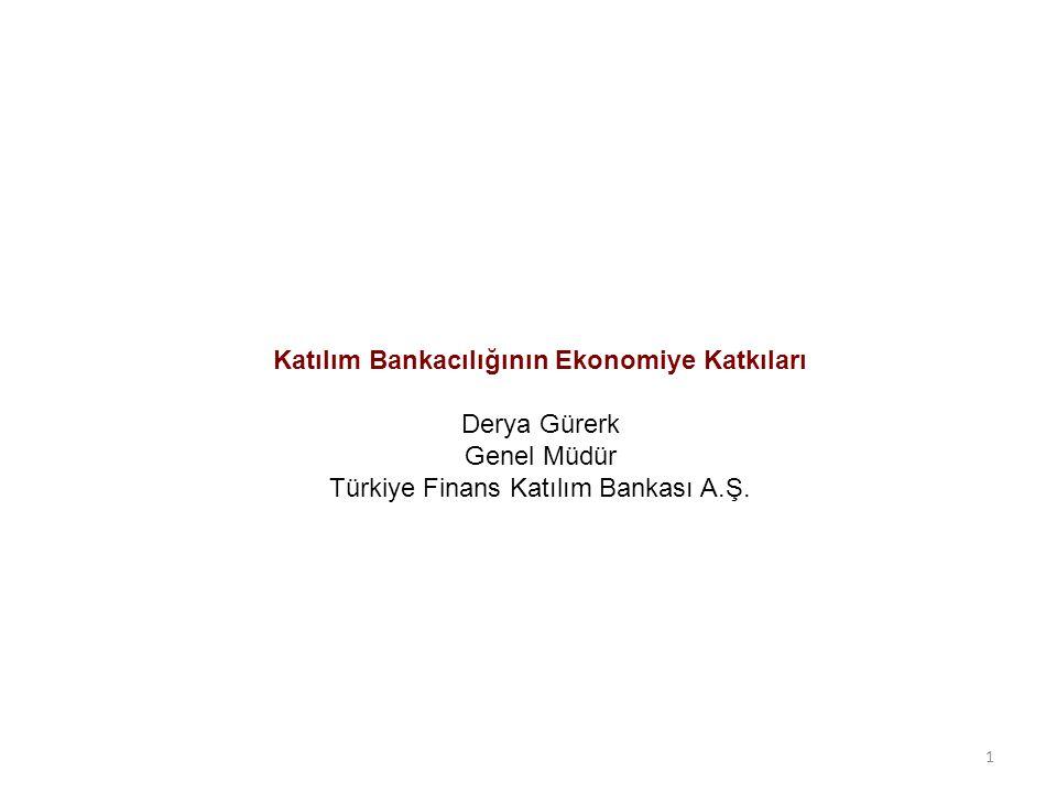 Katılım Bankacılığının Ekonomiye Katkıları Derya Gürerk Genel Müdür Türkiye Finans Katılım Bankası A.Ş. 1