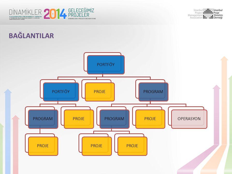 BAĞLANTILAR Portföy Yönetimi İş Stratejileri Program Yönetimi Yönetişim Proje Yönetimi PROJELER DÜNYASI İŞ DÜNYASI