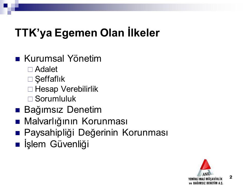 13 TTK'nın Öngördüğü Zorunlu Hedefler 1- Türk işletmelerinin uluslararası ticaret, endüstri, hizmet, sermaye ve finans piyasalarının, sürdürülebilir rekabet gücünü haiz güvenilir aktörleri olmalarıdır.,.