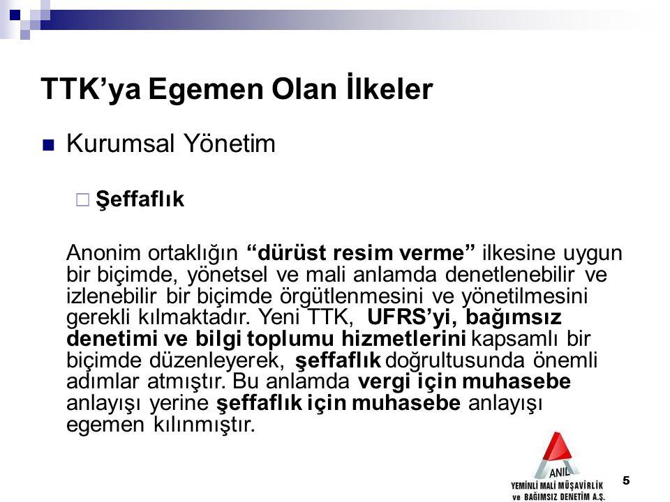 116 ANONİM ŞİRKETLERİN DENETİMİ (m.397-406) Denetim raporu (m.