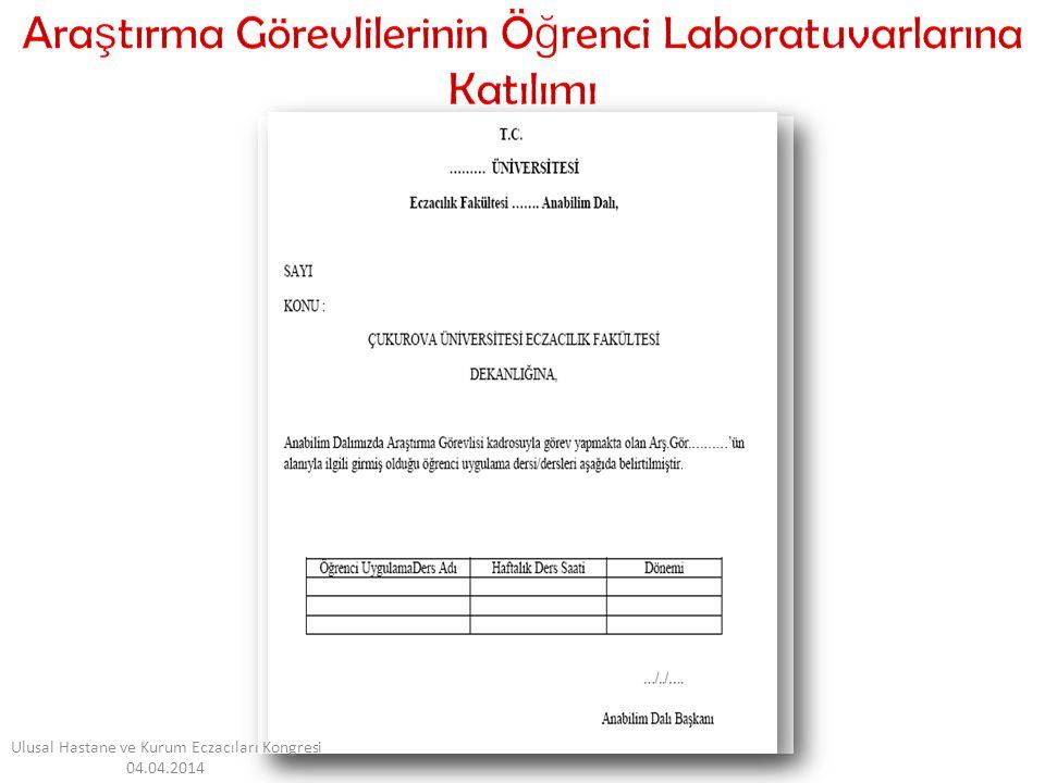 E ğ itim-Ö ğ retim Erasmus Mevlana Farabi Ulusal Hastane ve Kurum Eczacıları Kongresi 04.04.2014