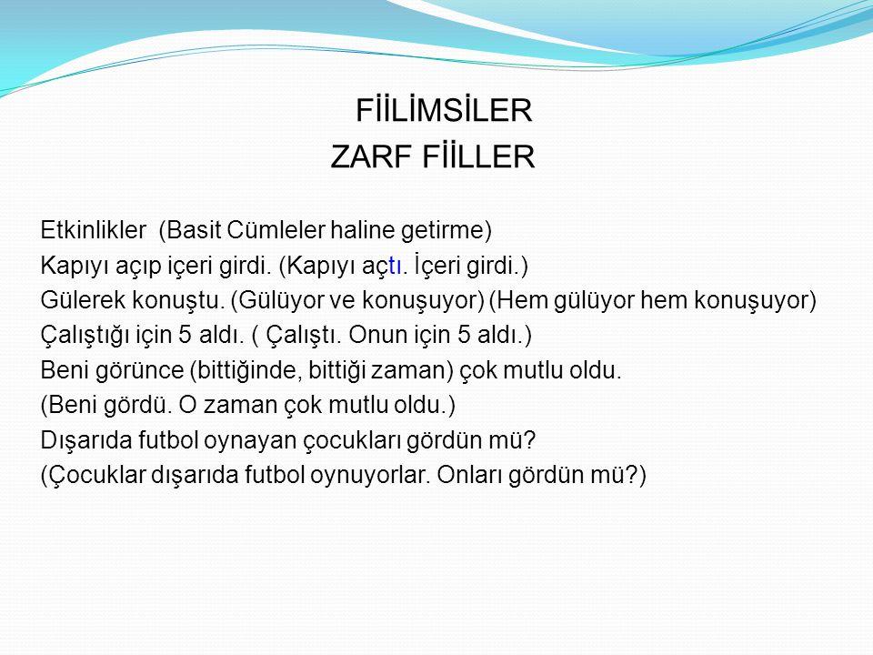 BİLEŞİK ZAMANLAR 1.