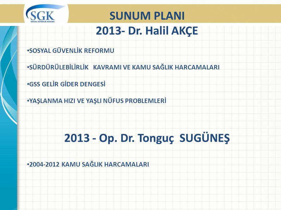 SUNUM PLANI 2013- Dr.