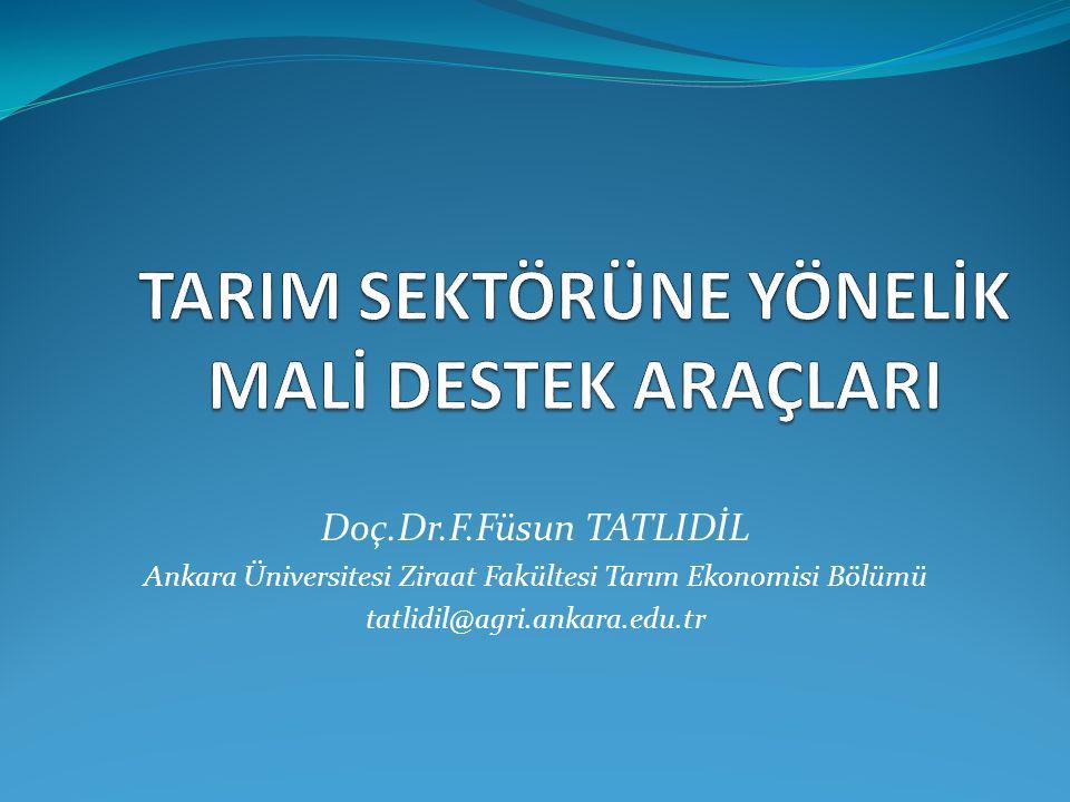 Doç.Dr.F.Füsun TATLIDİL Ankara Üniversitesi Ziraat Fakültesi Tarım Ekonomisi Bölümü tatlidil@agri.ankara.edu.tr