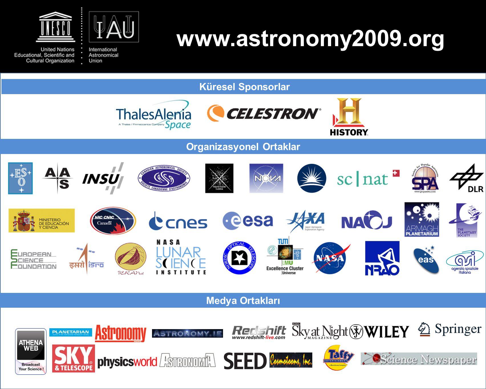 www.astronomy2009.org Küresel Sponsorlar Organizasyonel Ortaklar Medya Ortakları