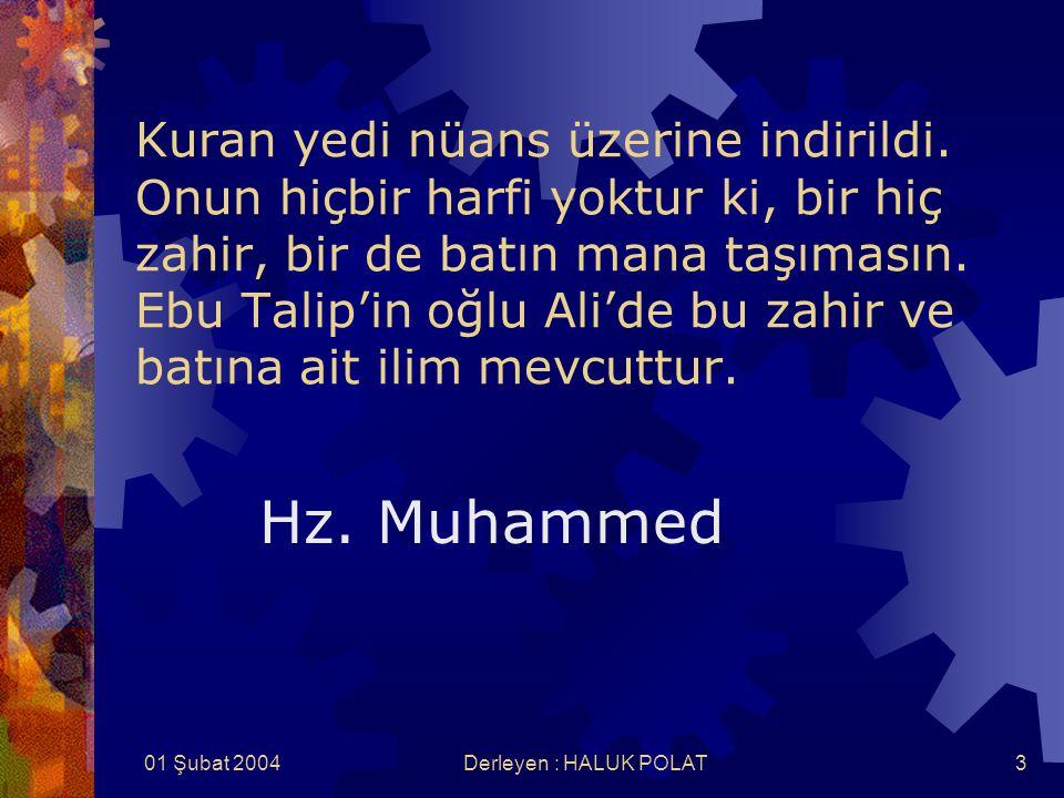 01 Şubat 2004Derleyen : HALUK POLAT3 Kuran yedi nüans üzerine indirildi.