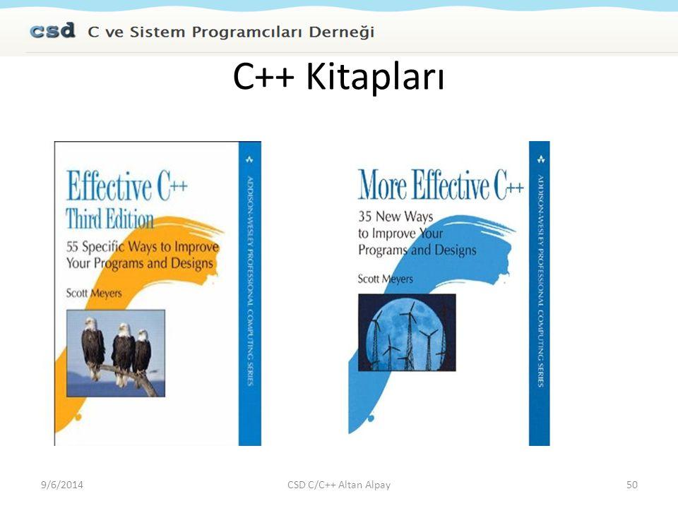 C++ Kitapları 9/6/201450CSD C/C++ Altan Alpay