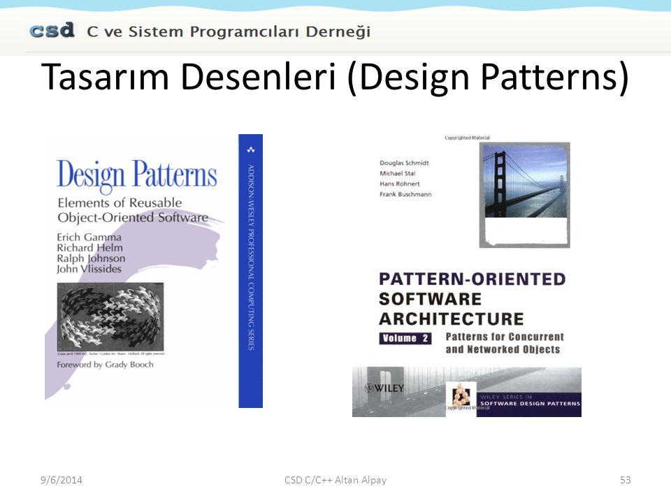 Tasarım Desenleri (Design Patterns) 9/6/2014CSD C/C++ Altan Alpay53