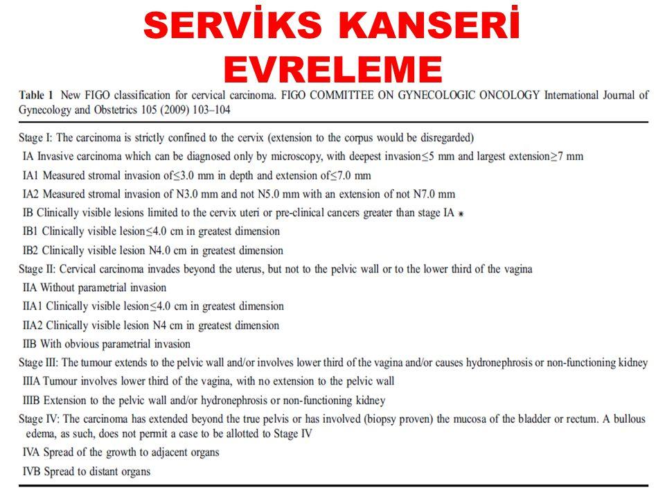 SERVİKS KANSERİ EVRELEME