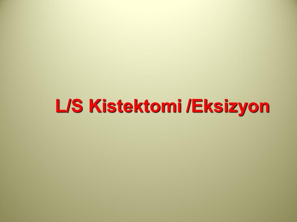 L/S Kistektomi /Eksizyon