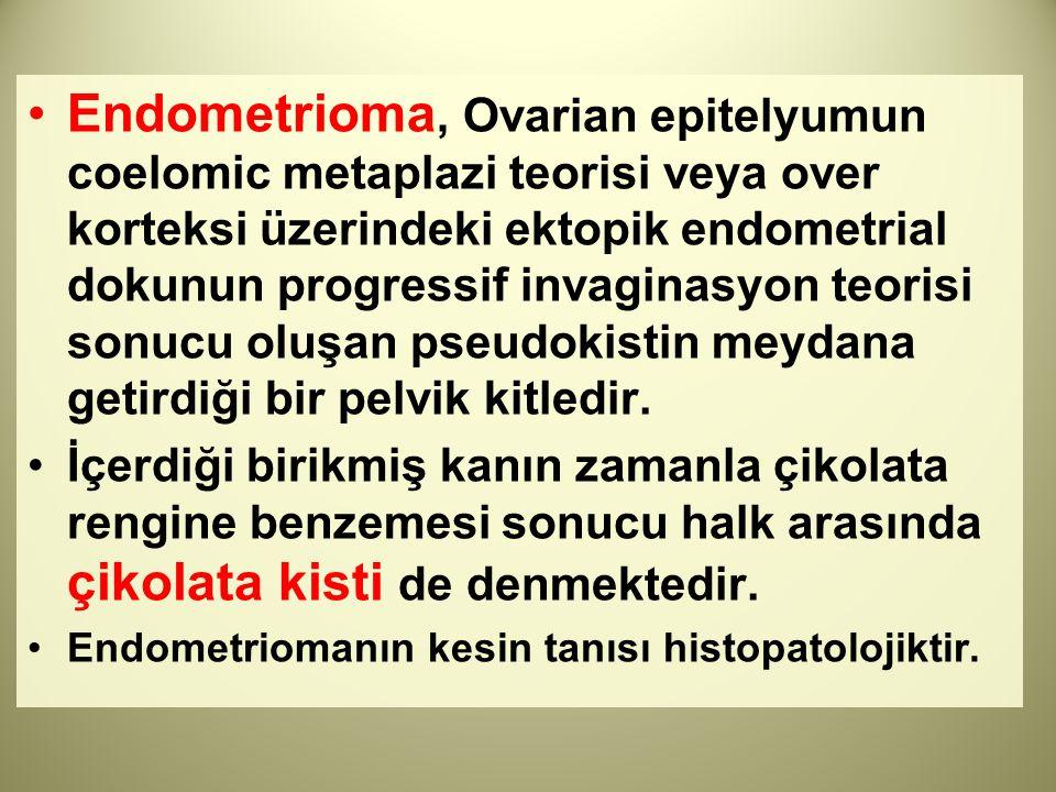 Endometrioma, Ovarian epitelyumun coelomic metaplazi teorisi veya over korteksi üzerindeki ektopik endometrial dokunun progressif invaginasyon teorisi