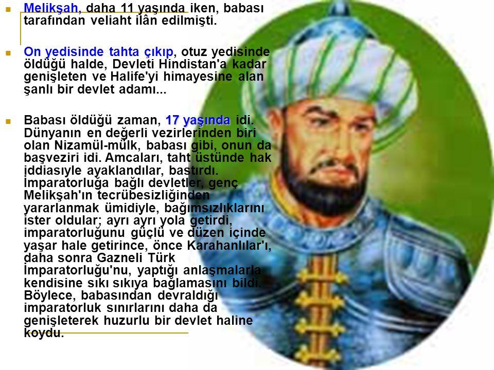 37 YAŞINDA, BAĞDAT DA ZEHİRLENEREK ŞEHİD OLDU Melikşah Hasan Sabbah ı ortadan kaldırmaya ve Mısır a da bir sefer açarak Fatimîler Devleti ne son vermeye karar verdi.