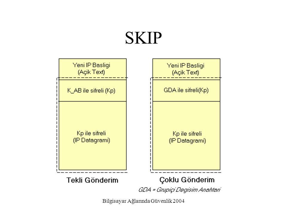 Bilgisayar Ağlarında Güvenlik 2004 SKIP