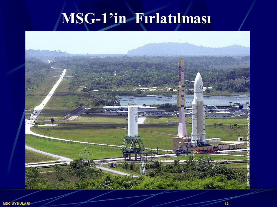 MSG-1'in Fırlatılması MSG UYDULARI 12