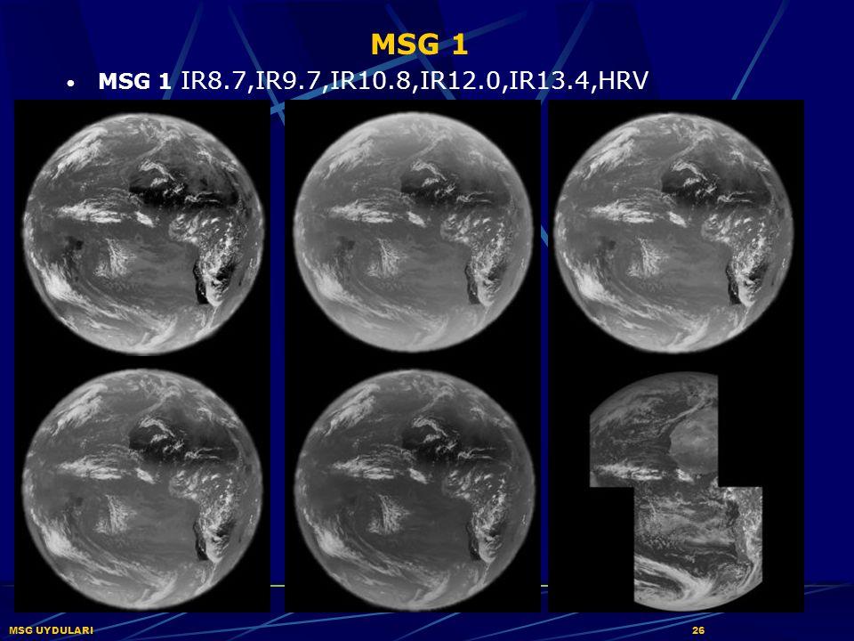 MSG 1 MSG 1 IR8.7,IR9.7,IR10.8,IR12.0,IR13.4,HRV MSG UYDULARI26