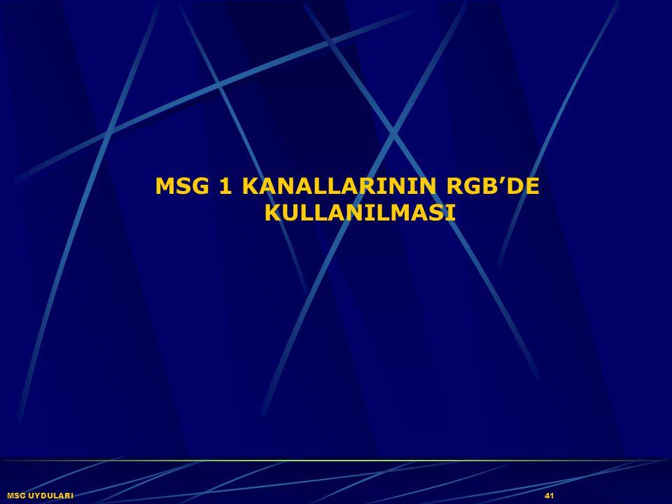 MSG UYDULARI41 MSG 1 KANALLARININ RGB'DE KULLANILMASI