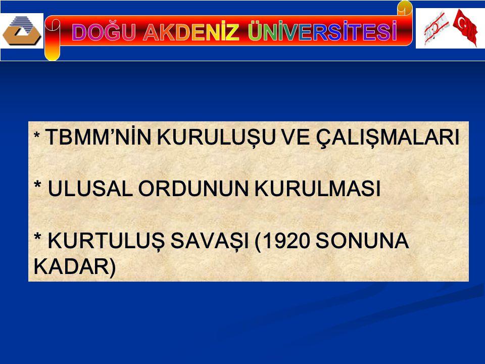 TBMM.NİN AÇILIŞI Yeni seçilen ve İstanbul'dan kaçabilen milletvekilleri Nisan ayı başlarında Ankara'ya ulaşmışlardı.