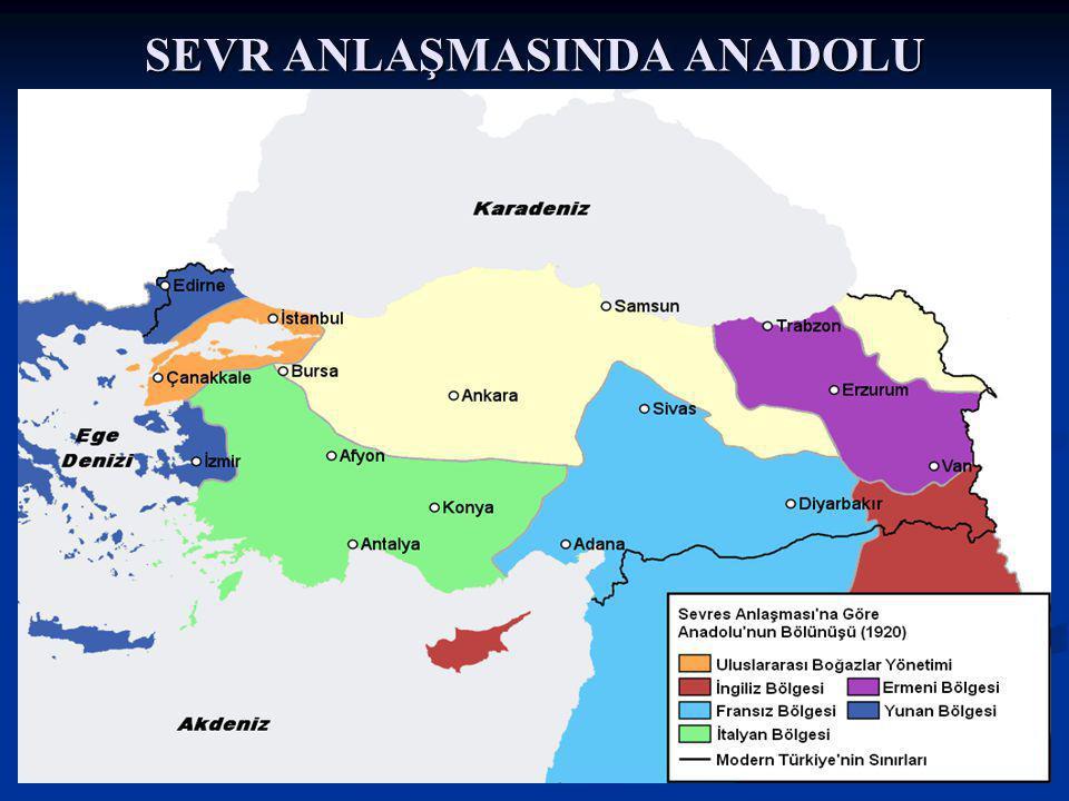 SEVR ANLAŞMASINDA ANADOLU