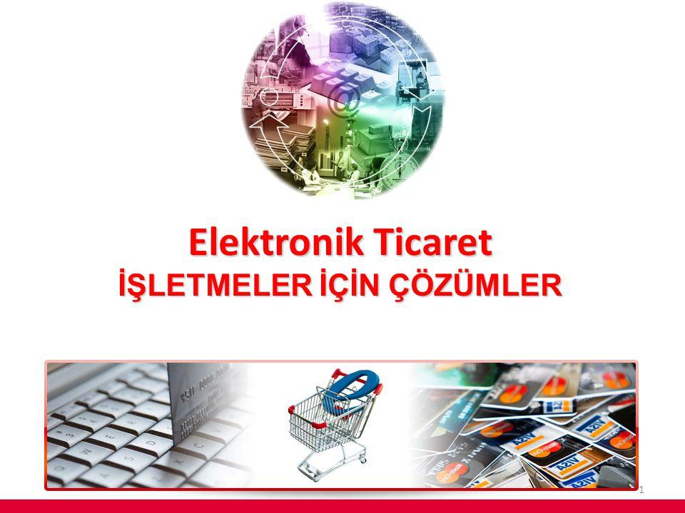 Elektronik Ticaret İŞLETMELER İÇİN ÇÖZÜMLER 1