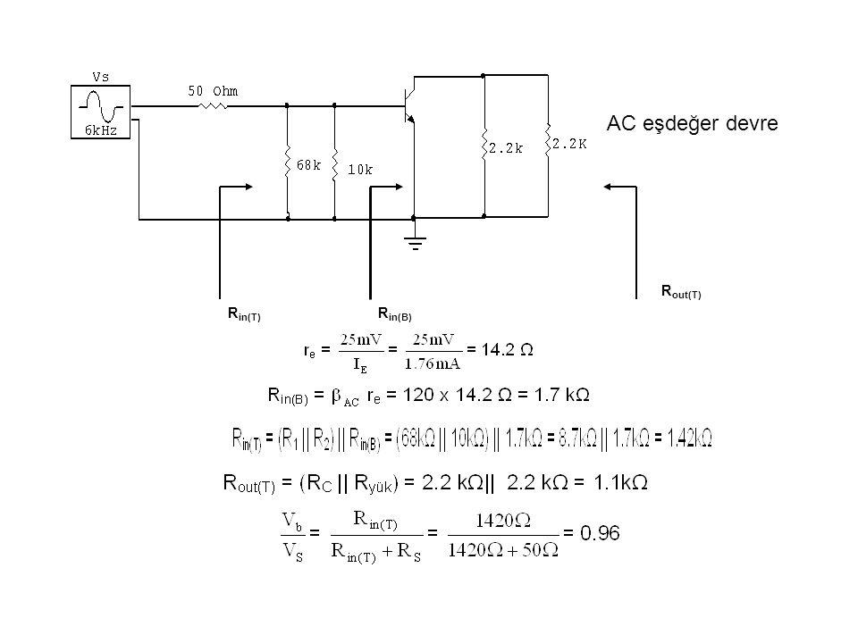 AC eşdeğer devre R in(B) R in(T) R out(T)