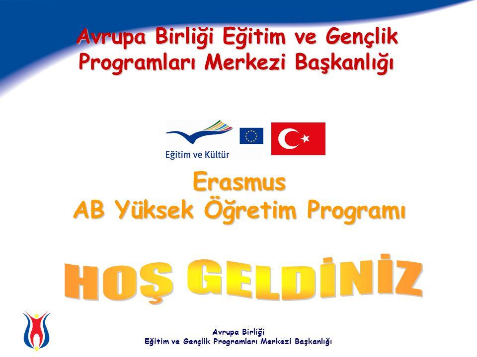 Avrupa Birliği Eğitim ve Gençlik Programları Merkezi Başkanlığı Erasmus AB Yüksek Öğretim Programı Avrupa Birliği Eğitim ve Gençlik Programları Merkezi Başkanlığı