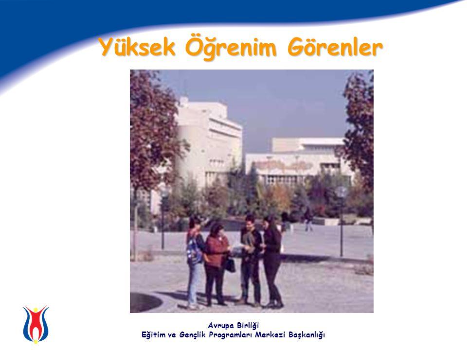 Avrupa Birliği Eğitim ve Gençlik Programları Merkezi Başkanlığı Yüksek Öğrenim Görenler