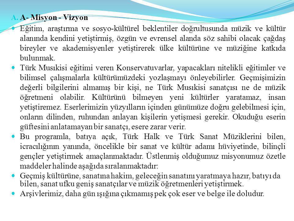 IV- KURUMSAL KABİLİYET ve KAPASİTENİN DEĞERLENDİRİLMESİ A- Üstünlükler 1.