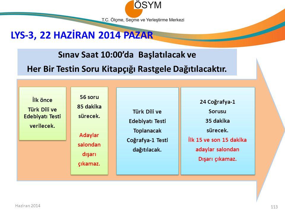 İlk önce Türk Dili ve Edebiyatı Testi verilecek.İlk önce Türk Dili ve Edebiyatı Testi verilecek.