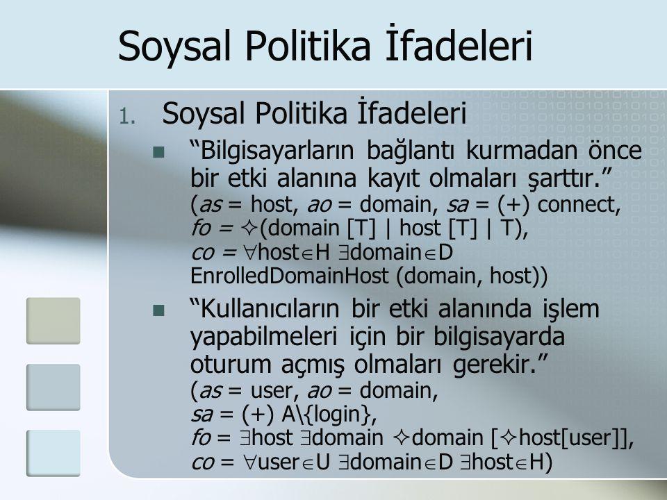Soysal Politika İfadeleri 1.