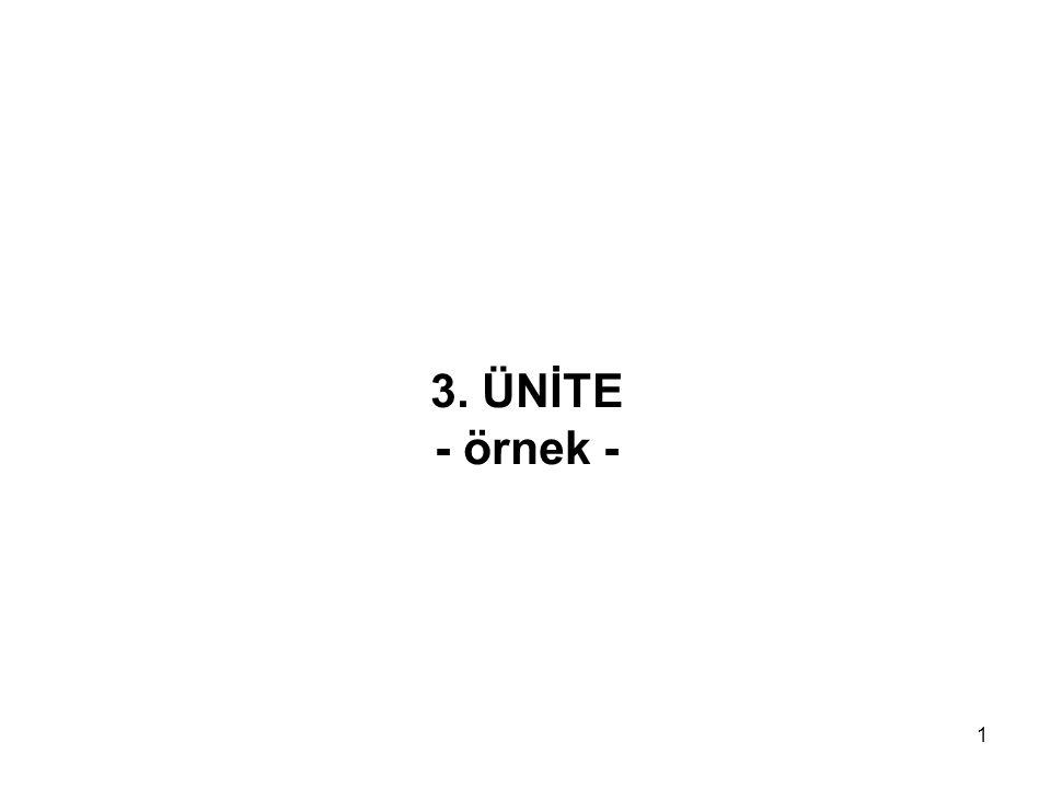 1 3. ÜNİTE - örnek -