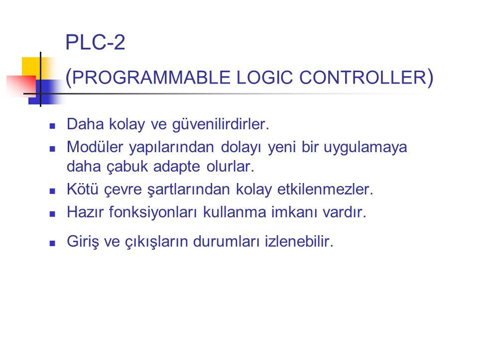 PLC-2 ( PROGRAMMABLE LOGIC CONTROLLER ) Daha kolay ve güvenilirdirler.