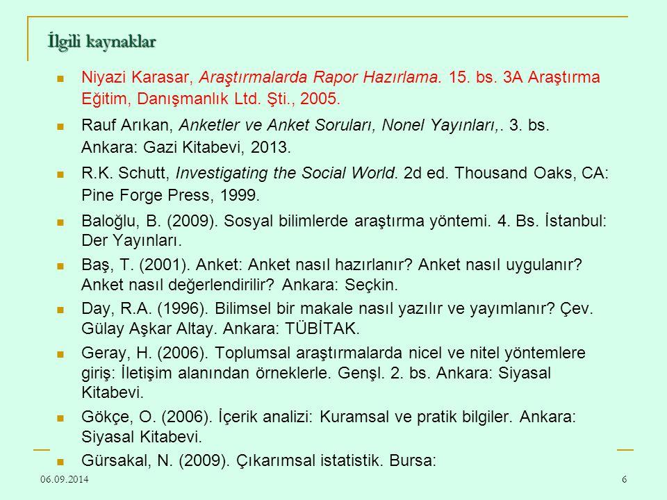 06.09.201487 DENEYSEL ÇALIŞMADA BULGULAR Tablo 3.1.