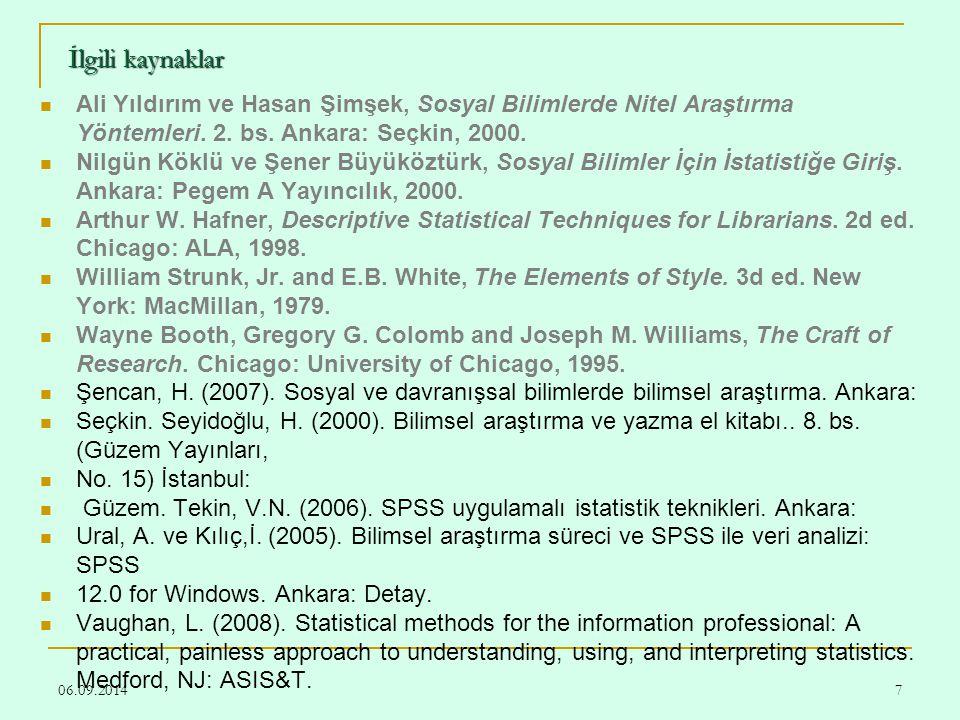 06.09.20148 İlgili kaynaklar Charles H.Busha and Stephen P.