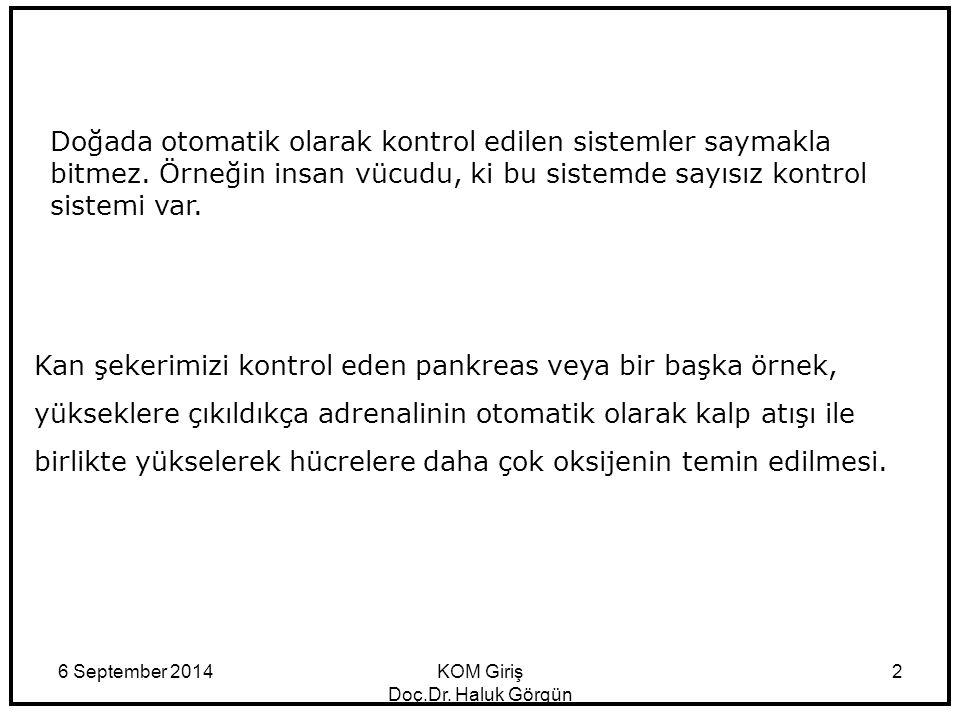 6 September 2014KOM Giriş Doç.Dr.