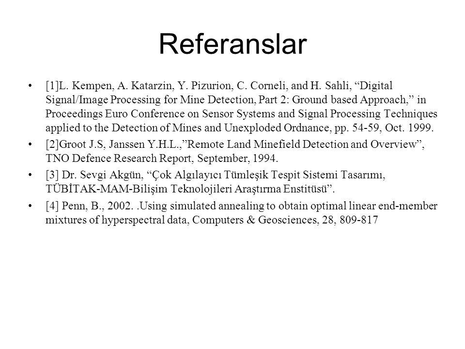 Referanslar [1]L.Kempen, A. Katarzin, Y. Pizurion, C.