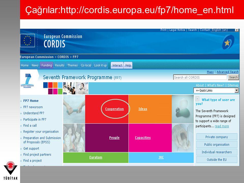 Çağrılar:http://cordis.europa.eu/fp7/home_en.html