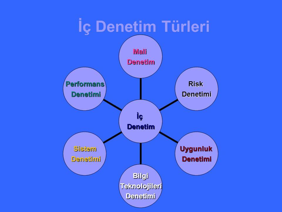 İç Denetim Türleri İçDenetim MaliDenetim RiskDenetimi UygunlukDenetimi Bilgi Teknolojileri TeknolojileriDenetimi Sistem Denetimi Denetimi Performans