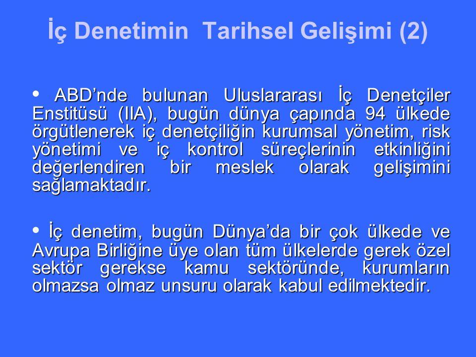 AB Müzakere Sürecinde İç Denetim Türkiye'de kamu kurum ve kuruluşlarında, uluslararası standartlara uygun olarak iç denetim birimlerinin kurulması konusu, Avrupa Birliği müzakere sürecinde 32.