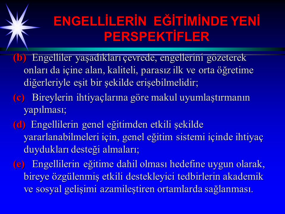 ENGELLİLERİN EĞİTİMİNDE YENİ PERSPEKTİFLER 3.