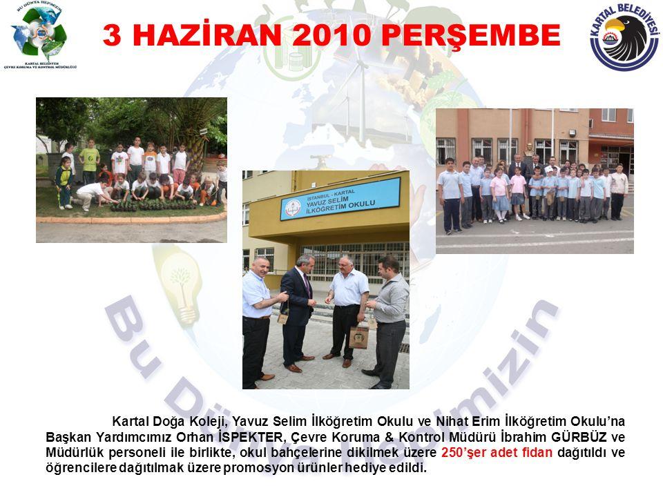 9 HAZİRAN 2010 ÇARŞAMBA Çevre Koruma&Kontrol Müdürlüğü personeli tarafından fidan talep eden okullara fidan dağıtımı yapıldı.
